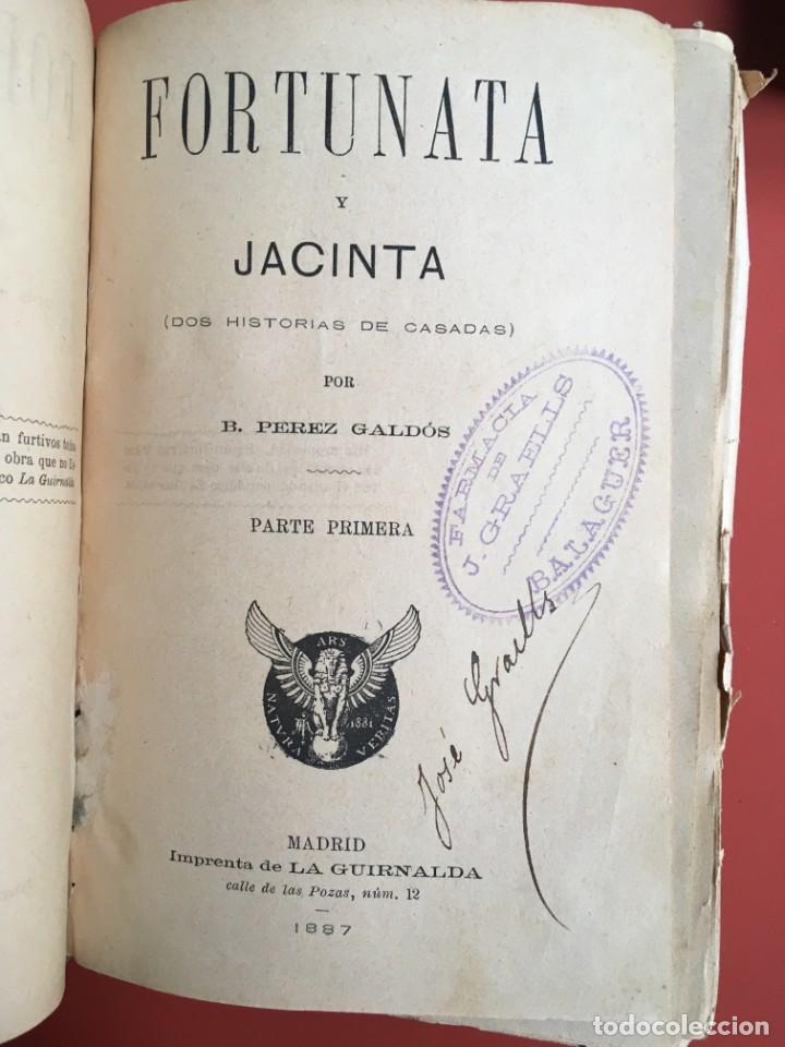 Libros antiguos: FORTUNATA Y JACINTA -- COMPLETA - 1887 - PRIMERA EDICIÓN - BENITO PÉREZ GALDÓS - La Guirnalda - RARA - Foto 4 - 196109940