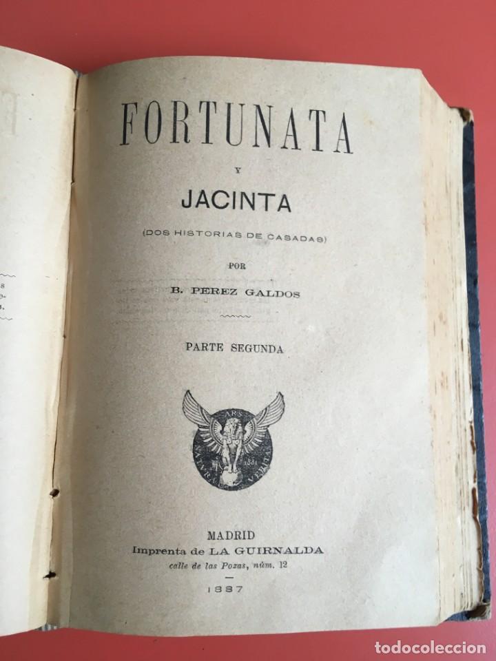 Libros antiguos: FORTUNATA Y JACINTA -- COMPLETA - 1887 - PRIMERA EDICIÓN - BENITO PÉREZ GALDÓS - La Guirnalda - RARA - Foto 5 - 196109940