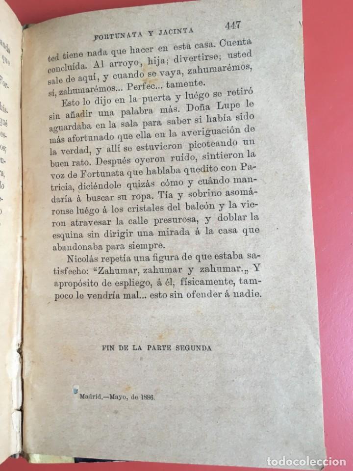 Libros antiguos: FORTUNATA Y JACINTA -- COMPLETA - 1887 - PRIMERA EDICIÓN - BENITO PÉREZ GALDÓS - La Guirnalda - RARA - Foto 13 - 196109940