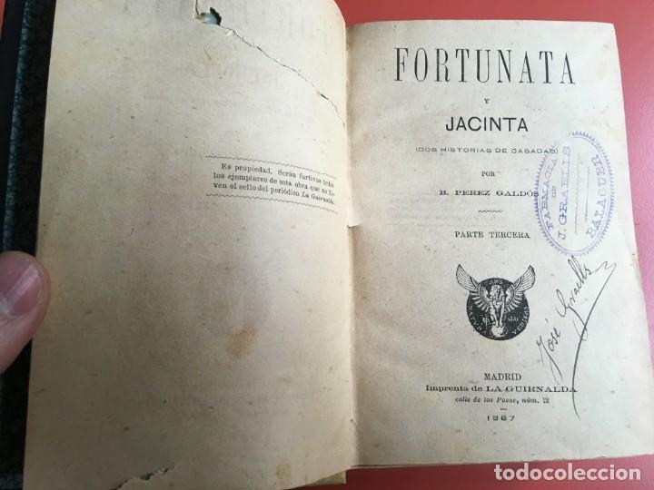 Libros antiguos: FORTUNATA Y JACINTA -- COMPLETA - 1887 - PRIMERA EDICIÓN - BENITO PÉREZ GALDÓS - La Guirnalda - RARA - Foto 16 - 196109940