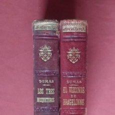 Libros antiguos: TRILOGIA DE LOS TRES MOSQUETEROS - ALEJANDRO DUMAS - 1900 / 1910 - LAS NOVELAS DE D'ARTAGNAN. Lote 198034565