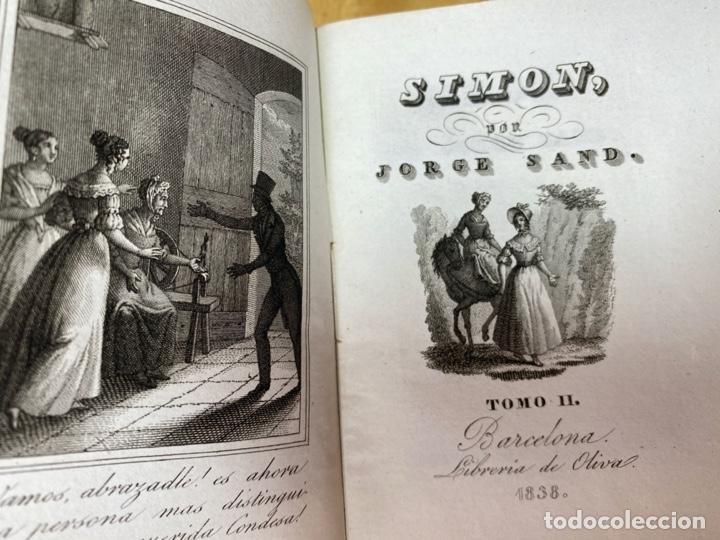 AÑO 1838.- SIMON. JORGE SAND. BARCELONA. INTONSO. DECLARADO LIBRO PROHIBIDO. (Libros antiguos (hasta 1936), raros y curiosos - Literatura - Narrativa - Novela Histórica)
