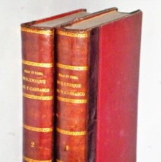 Libros antiguos: OBRAS EN PROSA DE DON ENRIQUE GIL Y CARRASCO. 2 TOMOS. Lote 205438597