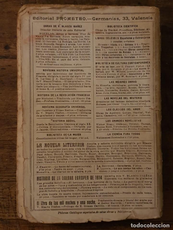 Libros antiguos: LOS CUATRO JINETES DEL APOCALIPSIS - BLASCO IBAÑEZ - EDITORIAL PROMETEO 1919 - Foto 3 - 206586998