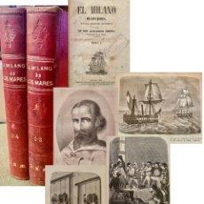 Libros antiguos: 1855, EL MILANO DE LOS MARES. PIRATERÍA ESPAÑOLA. NOVELA MARÍTIMO-HISTÓRICA. ALEJANDRO BENISIA 1ª ED. Lote 206995675