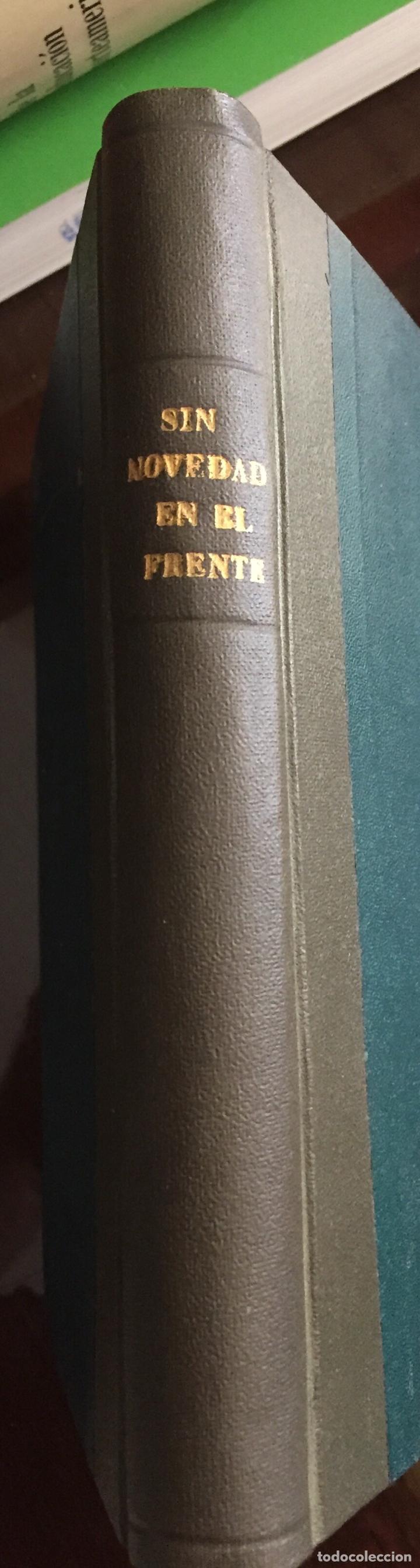 Libros antiguos: SIN NOVEDAD EN EL FRENTE Erich Maria Remarque - Foto 3 - 208673755