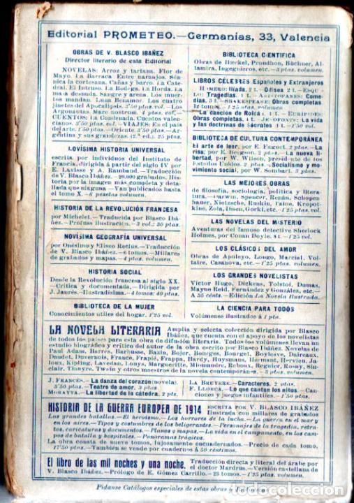 Libros antiguos: BLASCO IBÁÑEZ : LOS ARGONAUTAS (PROMETEO, 1916) PRIMERA EDICIÓN - Foto 2 - 53409900
