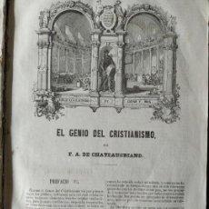Livres anciens: EL GENIO DEL CRISTIANISMO/ LOS NATCHEZ/ LOS CUATRO ESTUARDOS POR CHATEAUBRIAND- GASPAR Y ROIG 1853. Lote 212615646