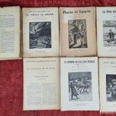 Libros antiguos: BIBLIOTECA ALREDEDOR DEL MUNDO. 10 NOVELAS. VVAA. SIN ENCUADERNAR. 1899.. Lote 213849756