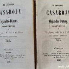 Libros antiguos: EL CABALLERO DE CASA-ROJA. ALEJANDRO DUMAS. IMP. VIUDA DE MAYOL. 2 VOL. 1847.. Lote 216980812