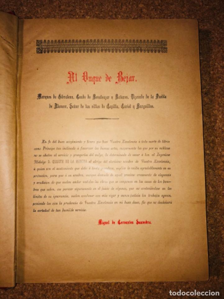 Libros antiguos: DON QUIJOTE DE LA MANCHA - 34 cm - 2 Tomos - Edición Felipe González Rojas, 1887 - Láminas Color - Foto 4 - 217581656