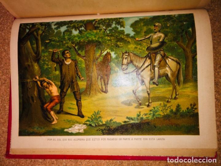 Libros antiguos: DON QUIJOTE DE LA MANCHA - 34 cm - 2 Tomos - Edición Felipe González Rojas, 1887 - Láminas Color - Foto 6 - 217581656