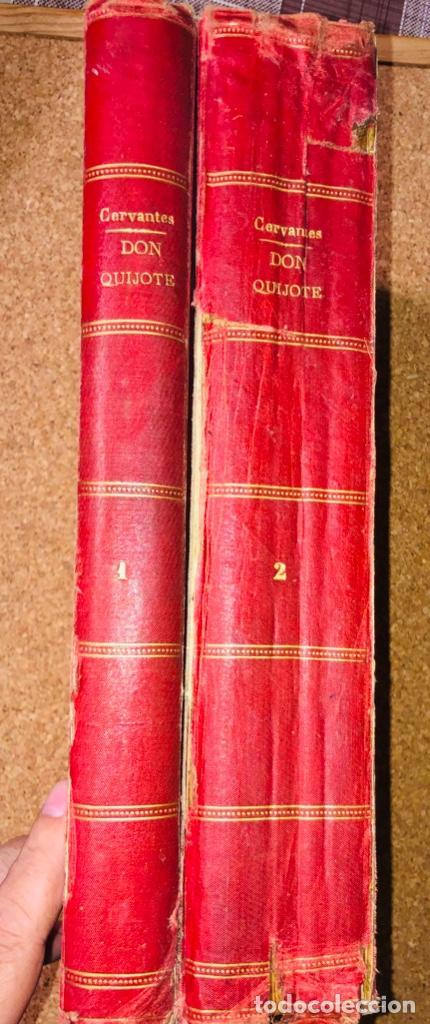 Libros antiguos: DON QUIJOTE DE LA MANCHA - 34 cm - 2 Tomos - Edición Felipe González Rojas, 1887 - Láminas Color - Foto 8 - 217581656