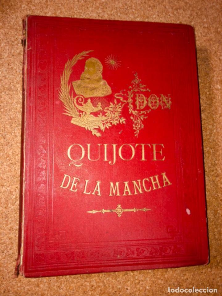 Libros antiguos: DON QUIJOTE DE LA MANCHA - 34 cm - 2 Tomos - Edición Felipe González Rojas, 1887 - Láminas Color - Foto 9 - 217581656