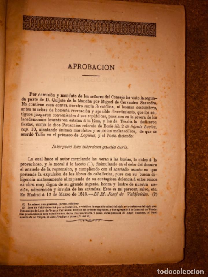 Libros antiguos: DON QUIJOTE DE LA MANCHA - 34 cm - 2 Tomos - Edición Felipe González Rojas, 1887 - Láminas Color - Foto 11 - 217581656