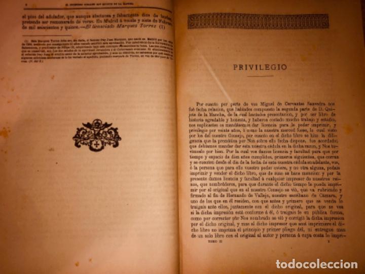 Libros antiguos: DON QUIJOTE DE LA MANCHA - 34 cm - 2 Tomos - Edición Felipe González Rojas, 1887 - Láminas Color - Foto 12 - 217581656