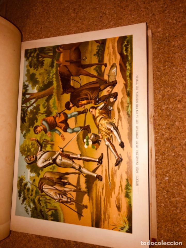 Libros antiguos: DON QUIJOTE DE LA MANCHA - 34 cm - 2 Tomos - Edición Felipe González Rojas, 1887 - Láminas Color - Foto 13 - 217581656