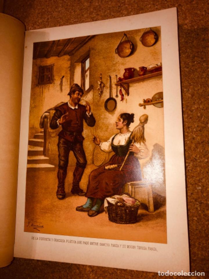 Libros antiguos: DON QUIJOTE DE LA MANCHA - 34 cm - 2 Tomos - Edición Felipe González Rojas, 1887 - Láminas Color - Foto 14 - 217581656