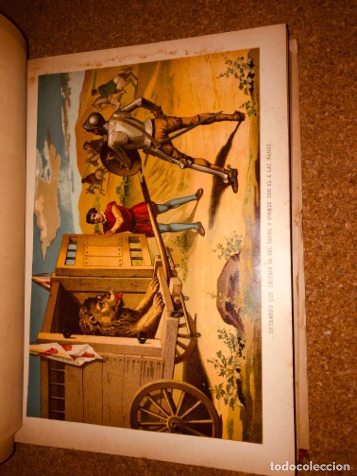 Libros antiguos: DON QUIJOTE DE LA MANCHA - 34 cm - 2 Tomos - Edición Felipe González Rojas, 1887 - Láminas Color - Foto 15 - 217581656