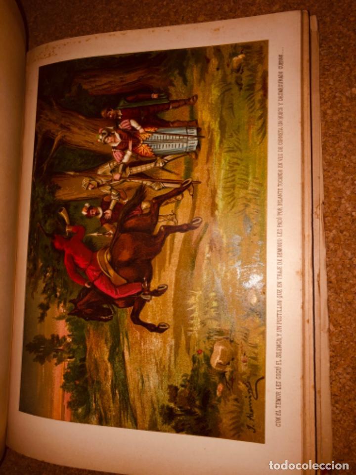 Libros antiguos: DON QUIJOTE DE LA MANCHA - 34 cm - 2 Tomos - Edición Felipe González Rojas, 1887 - Láminas Color - Foto 16 - 217581656