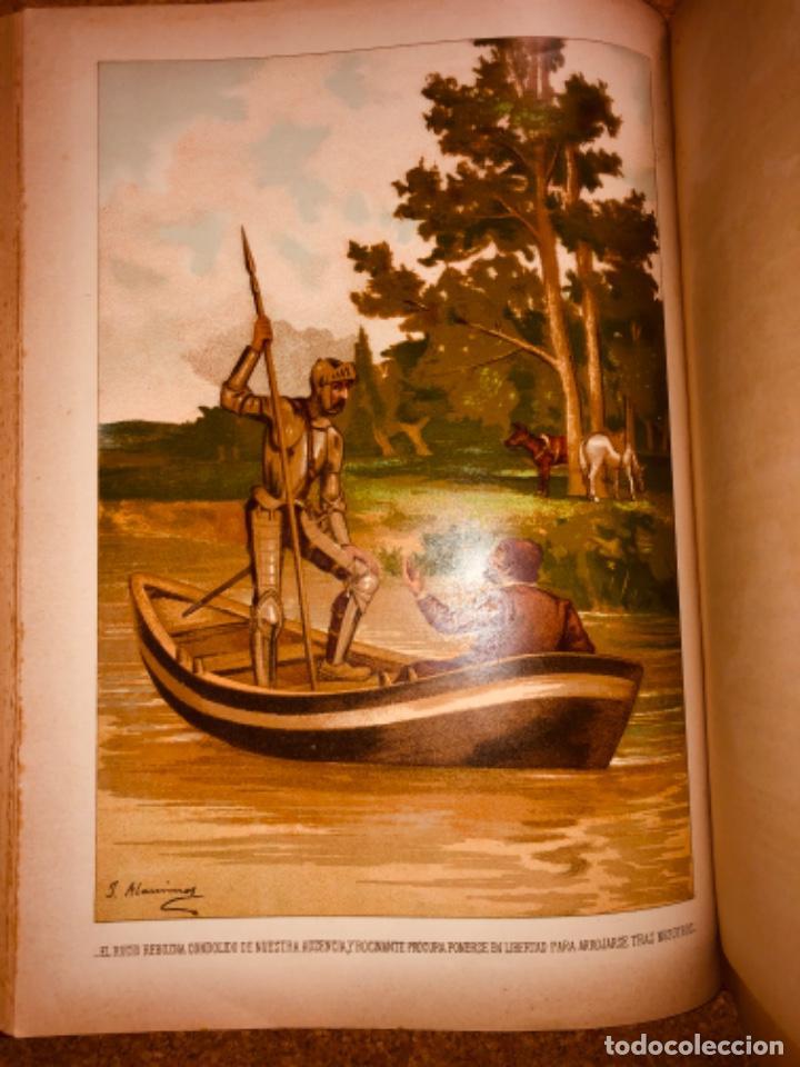 Libros antiguos: DON QUIJOTE DE LA MANCHA - 34 cm - 2 Tomos - Edición Felipe González Rojas, 1887 - Láminas Color - Foto 17 - 217581656