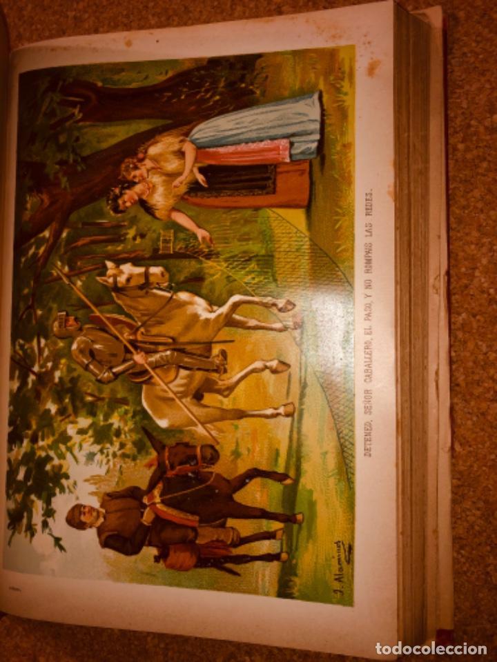 Libros antiguos: DON QUIJOTE DE LA MANCHA - 34 cm - 2 Tomos - Edición Felipe González Rojas, 1887 - Láminas Color - Foto 18 - 217581656