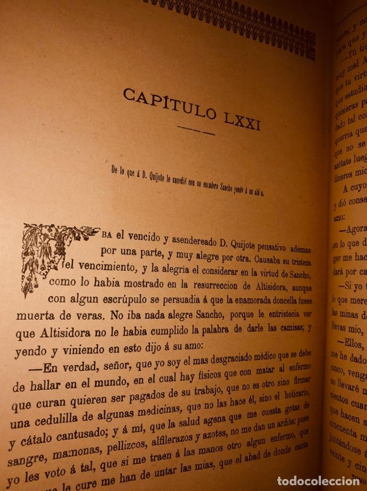 Libros antiguos: DON QUIJOTE DE LA MANCHA - 34 cm - 2 Tomos - Edición Felipe González Rojas, 1887 - Láminas Color - Foto 19 - 217581656