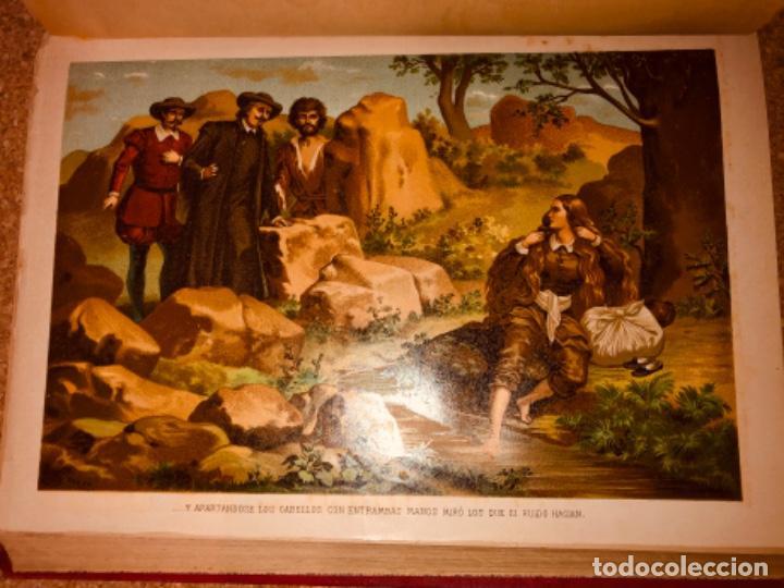 Libros antiguos: DON QUIJOTE DE LA MANCHA - 34 cm - 2 Tomos - Edición Felipe González Rojas, 1887 - Láminas Color - Foto 20 - 217581656