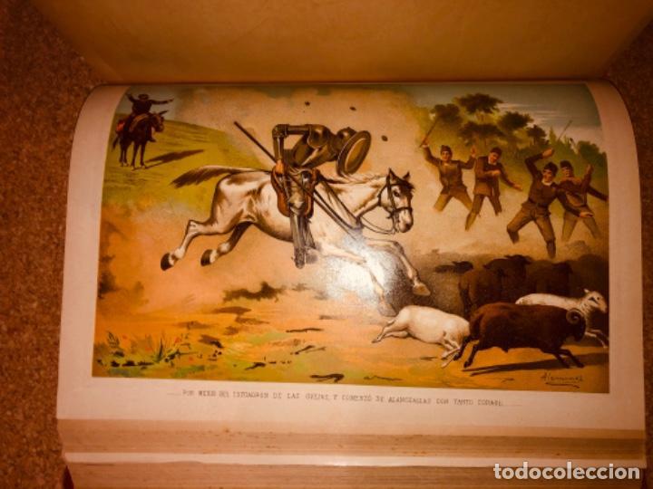 Libros antiguos: DON QUIJOTE DE LA MANCHA - 34 cm - 2 Tomos - Edición Felipe González Rojas, 1887 - Láminas Color - Foto 22 - 217581656