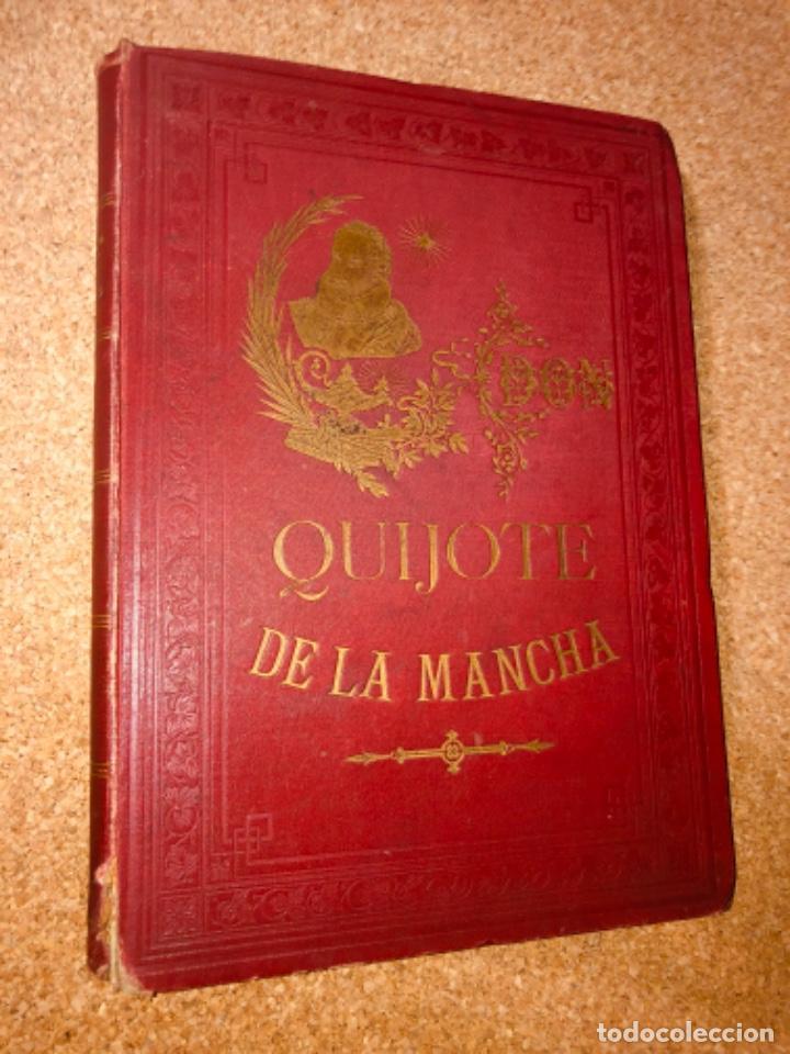 Libros antiguos: DON QUIJOTE DE LA MANCHA - 34 cm - 2 Tomos - Edición Felipe González Rojas, 1887 - Láminas Color - Foto 23 - 217581656
