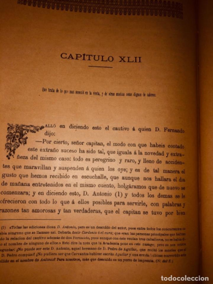Libros antiguos: DON QUIJOTE DE LA MANCHA - 34 cm - 2 Tomos - Edición Felipe González Rojas, 1887 - Láminas Color - Foto 24 - 217581656