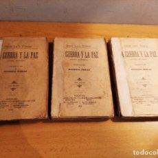 Libros antiguos: ANTIGUO LIBRO LA GUERRA Y LA PAZ LEON TOLSTOY 1902 MAUCCI 3 TOMOS. Lote 219118697