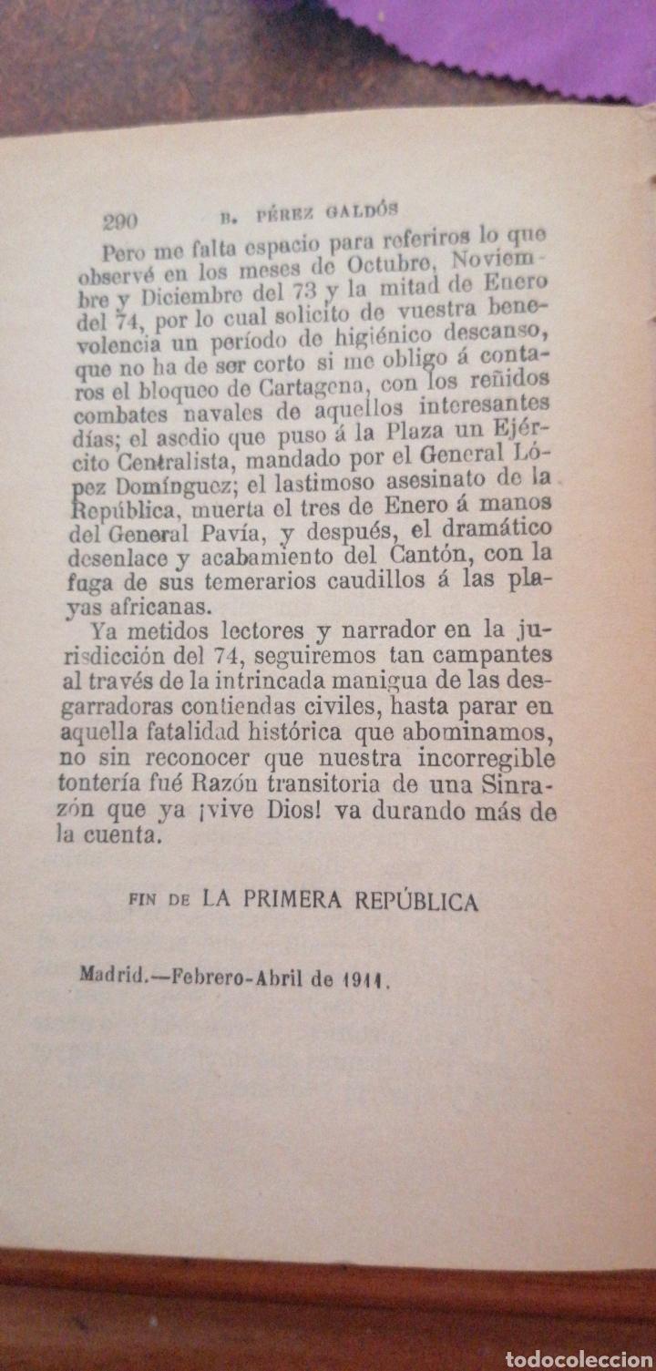 Libros antiguos: B. PÉREZ GALDOS EPISODIOS NACIONALES SERIE FINAL AMADEO I - Foto 5 - 219406321