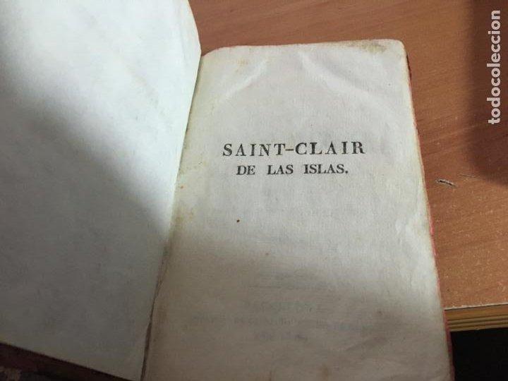 Libros antiguos: SAINT CLAIR O LOS DESTERRADOS A LA ISLA DE BARRA. COMPLETA EN TRES TOMOS AÑO 1828. (COIB153) - Foto 3 - 222642868