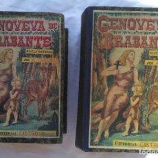 Libros antiguos: GENOVEVA DE BRABANTE. ANTONIO CONTRERAS. 2 TOMOS, EDITORIAL CASTRO, OBRA COMPLETA. Lote 224734092