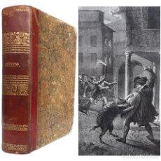 Libros antiguos: 1857 - QUEVEDO, NOVELA HISTÓRICA ILUSTRADA CON PRECIOSAS LITOGRAFÍAS DE URRABIETA Y EUSEBIO PLANAS. Lote 225258840