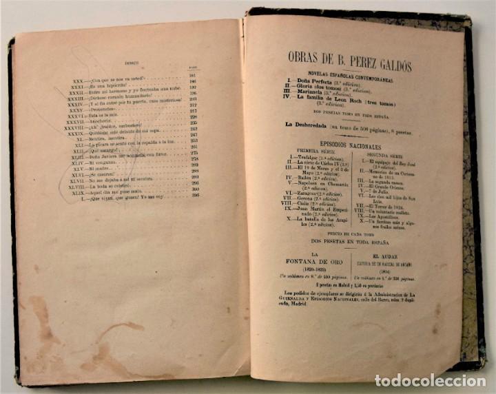 Libros antiguos: EL AMIGO MANSO - BENITO PÉREZ GALDÓS - PRIMERA EDICIÓN - MADRID 1882 - Foto 13 - 226100145