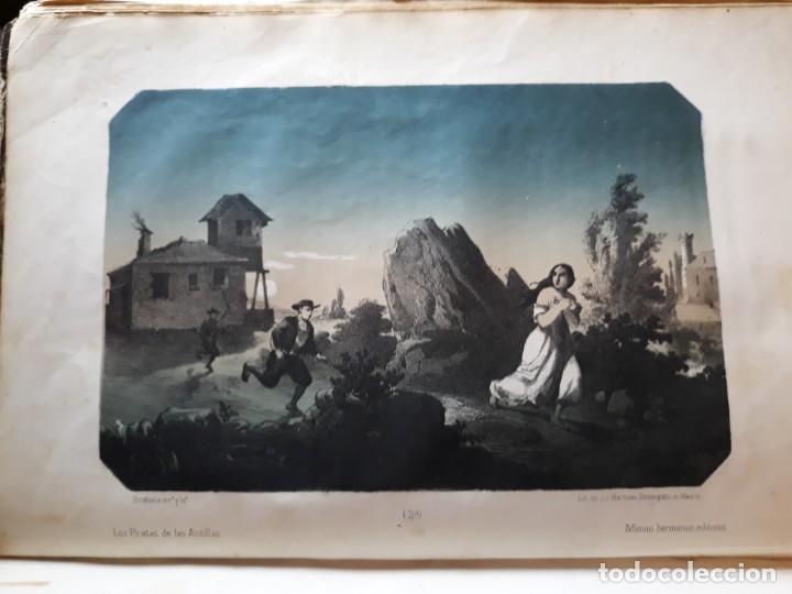 Libros antiguos: 1855. Los Forbantes o Piratas de las Antillas. Paul Duplessis. Novela Histórica, Litografías a color - Foto 3 - 227863680