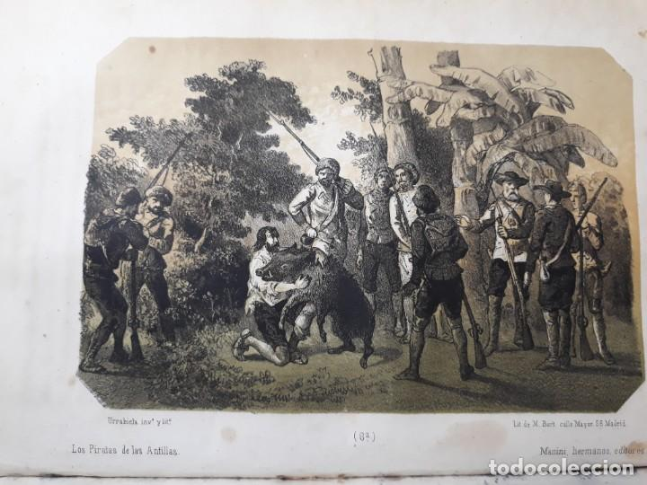 Libros antiguos: 1855. Los Forbantes o Piratas de las Antillas. Paul Duplessis. Novela Histórica, Litografías a color - Foto 4 - 227863680