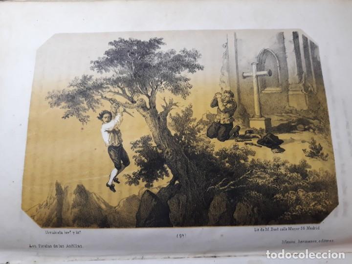 Libros antiguos: 1855. Los Forbantes o Piratas de las Antillas. Paul Duplessis. Novela Histórica, Litografías a color - Foto 6 - 227863680