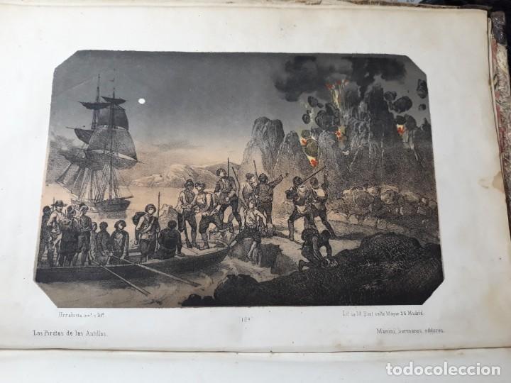 Libros antiguos: 1855. Los Forbantes o Piratas de las Antillas. Paul Duplessis. Novela Histórica, Litografías a color - Foto 7 - 227863680