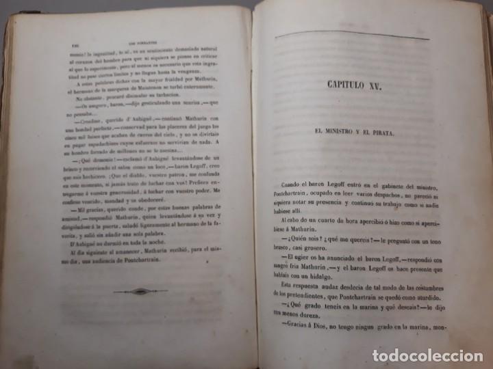 Libros antiguos: 1855. Los Forbantes o Piratas de las Antillas. Paul Duplessis. Novela Histórica, Litografías a color - Foto 9 - 227863680