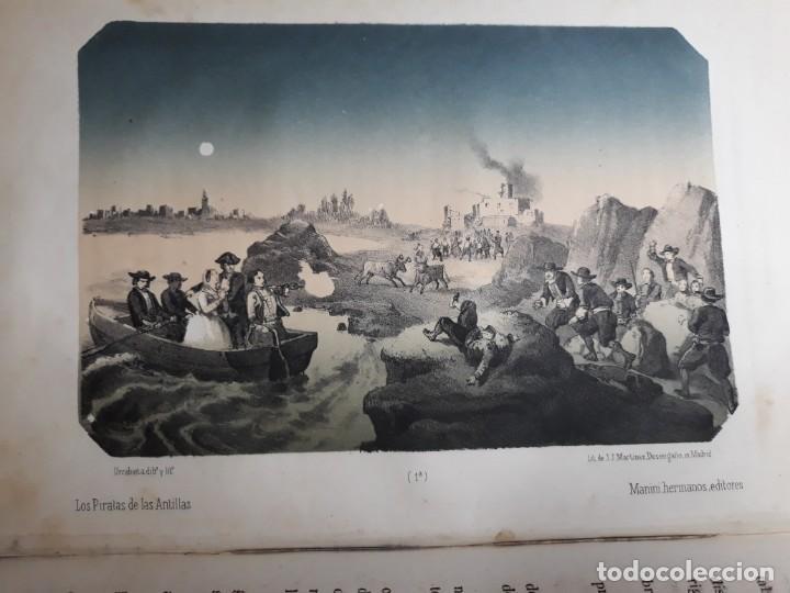 Libros antiguos: 1855. Los Forbantes o Piratas de las Antillas. Paul Duplessis. Novela Histórica, Litografías a color - Foto 10 - 227863680