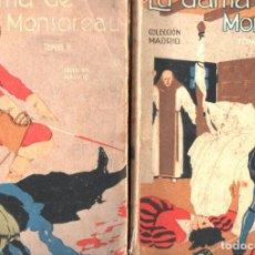 Libros antiguos: ALEJANDRO DUMAS : LA DAMA DE MONSOREAU (CALLEJA) DOS TOMOS. Lote 234530035
