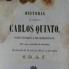 Libros antiguos: HISTORIA DEL EMPERADOR CARLOS QUINTO. BARCELONA, 1846. Lote 235237305