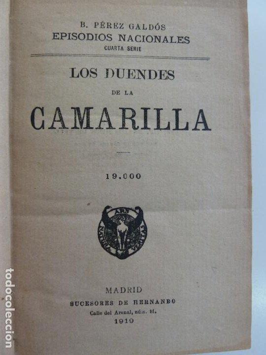 EPISODIOS NACIONALES. LOS DUENDES DE LA CAMARILLA. LA REVOLUCIÓN DE JULIO. PÉREZ GALDÓS. (Libros antiguos (hasta 1936), raros y curiosos - Literatura - Narrativa - Novela Histórica)