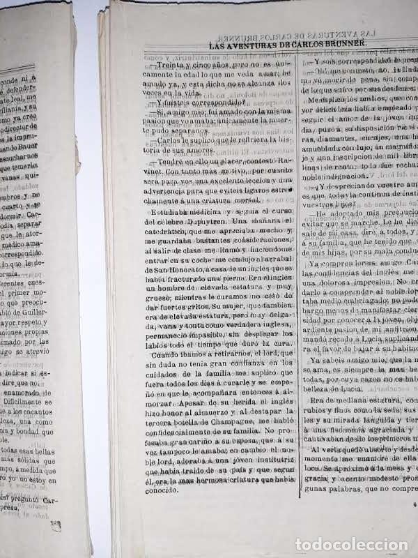 Libros antiguos: Las aventuras de Carlos Brunner por Claudius Hastings. Traducción de Clemente Cano. Zaragoza. 188? - Foto 5 - 243689670