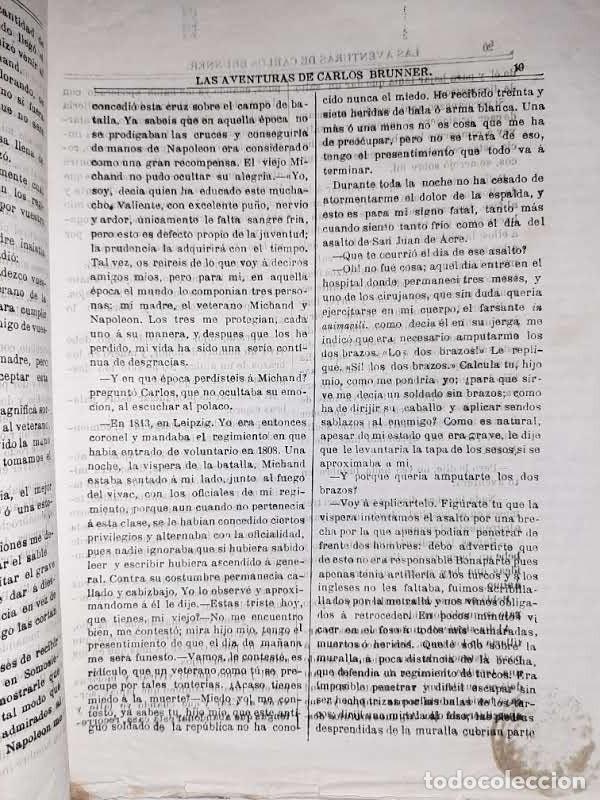 Libros antiguos: Las aventuras de Carlos Brunner por Claudius Hastings. Traducción de Clemente Cano. Zaragoza. 188? - Foto 3 - 243689670