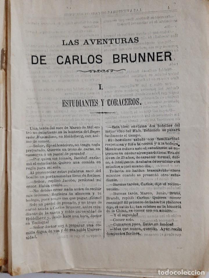 Libros antiguos: Las aventuras de Carlos Brunner por Claudius Hastings. Traducción de Clemente Cano. Zaragoza. 188? - Foto 2 - 243689670