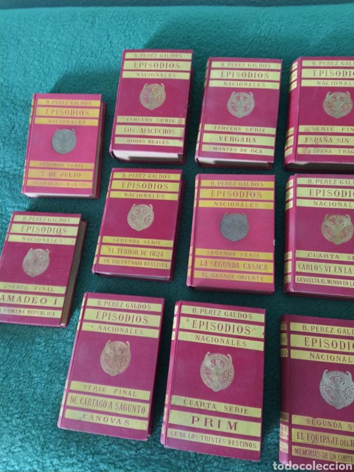Libros antiguos: Episodios nacionales Pérez Galdós 17 libros 34 novelas - Foto 2 - 249351185